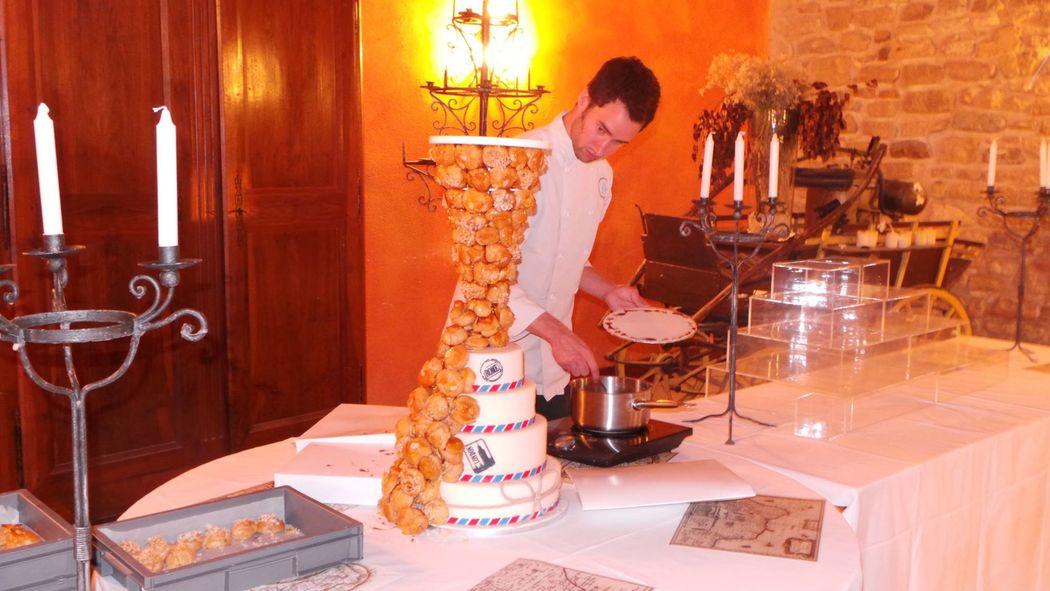 Assemblage Gravity Wedding Cake