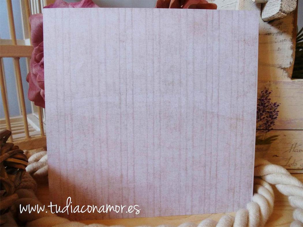 Invitación de boda con madera