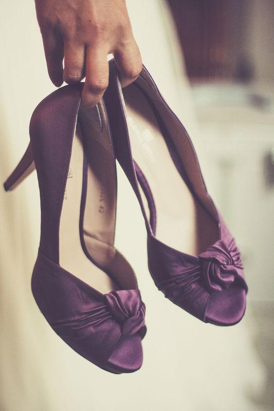 Detalle de zapatos de Novia.