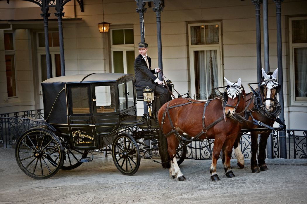 Horse-drawn carriage rides at the Grand Hotel Kronenhof