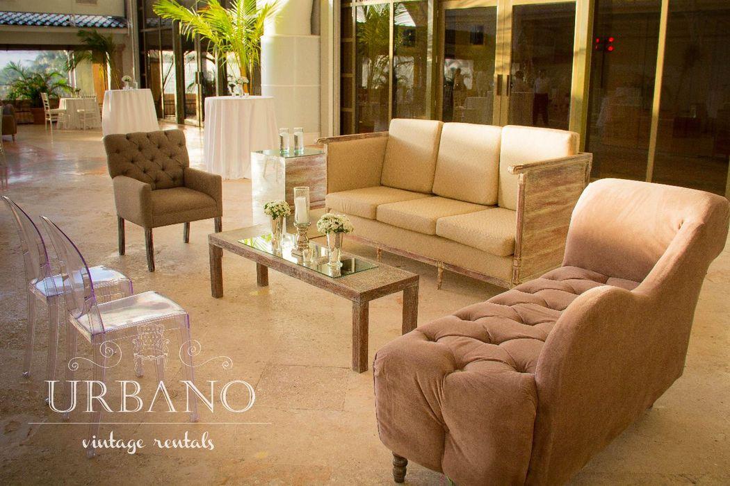 Montaje de nuestras salas en Terraza del Hotel JW Marriot Cancún.