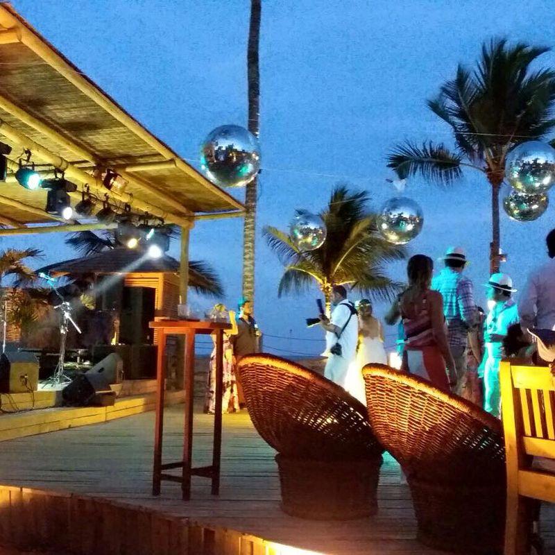 Coquetel - Festa de Casamento - Cafe de La Musique - Trancoso - Bahia   Casamento Fernanda e Cristiano 05/03/2016