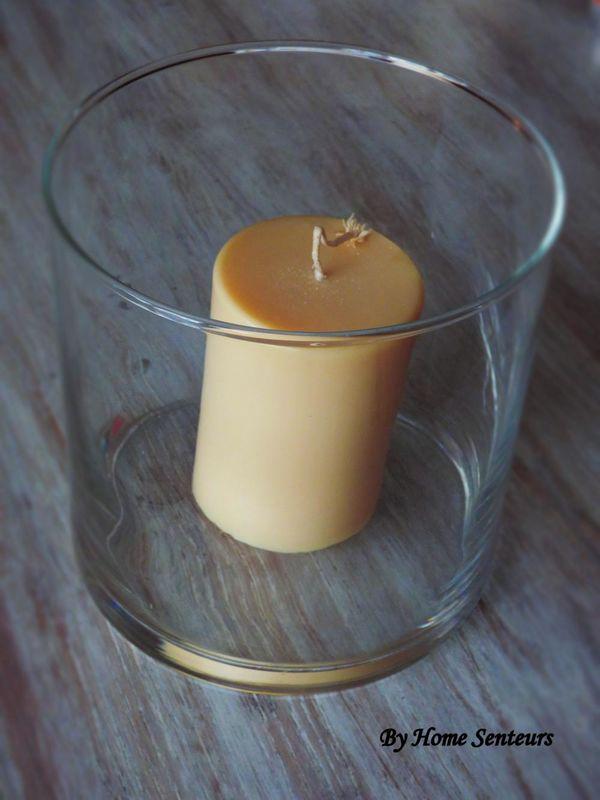 Grand Vase et bougie Cylindre pour déco table de Mariage