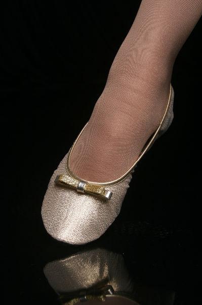 Série Premium Lurex Ouro Light com Laço Chanel Glitter Dourado