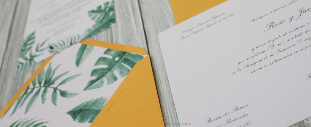 Acuarela Duck - Invitación Tropical