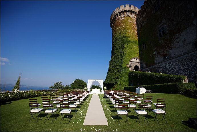 Castello Odescalchi di Bracciano Giardino del Granaio per le cerimonie Granary Garden for ceremony