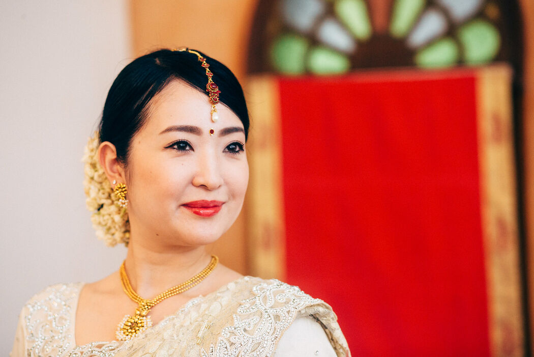 A Japanese Bride in Indian Wedding Costume