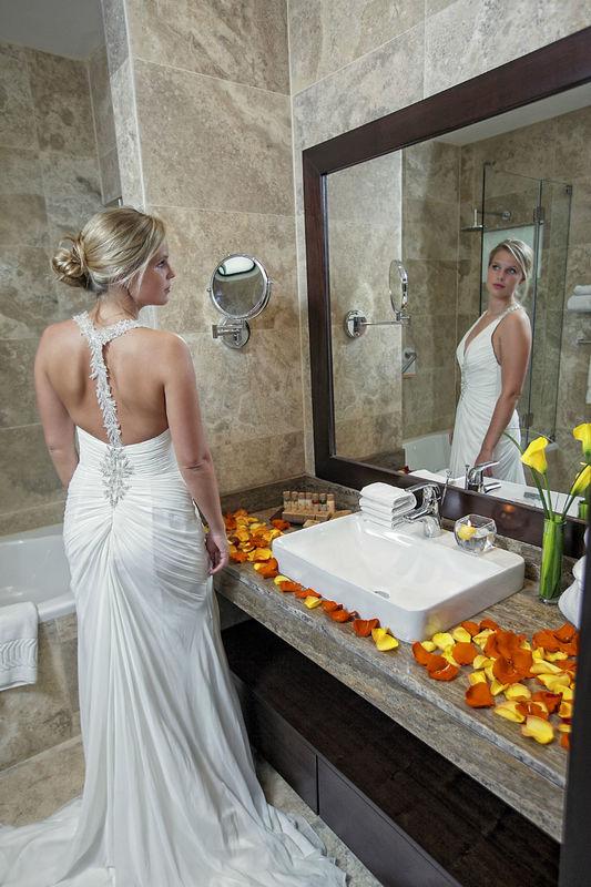 Decoración Baño - Noche de Bodas Foresta Hotel Lima San Isidro