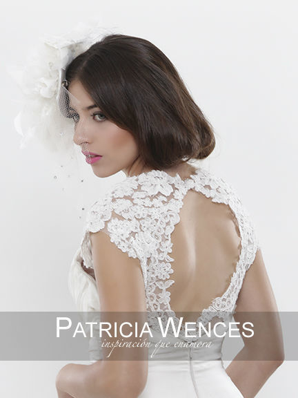 Tocados para novias www.patriciawences.com.mx