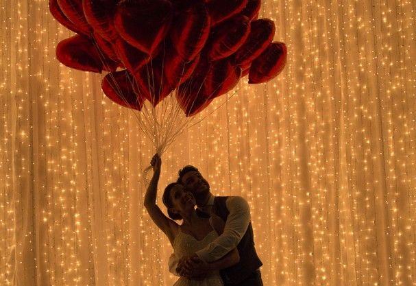 Balões Coração Vermelho- Metal