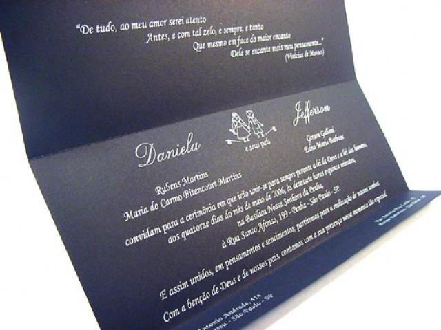 Convite modelo Luxemburgo