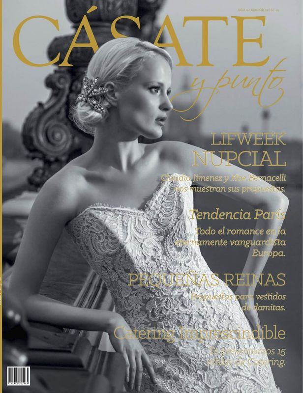 ‪#‎covergirl‬ Angelina Pavlishina on Peruvian ‪#‎WeddingMagazine‬ Cásate y Punto ‪#‎WeddingDress‬ by @Patty Durand 59 Edicion, abril 2015. photo :Luis Chiang Chang-Way Photo taken on : Pont Alexander III, Paris, Ille de France.