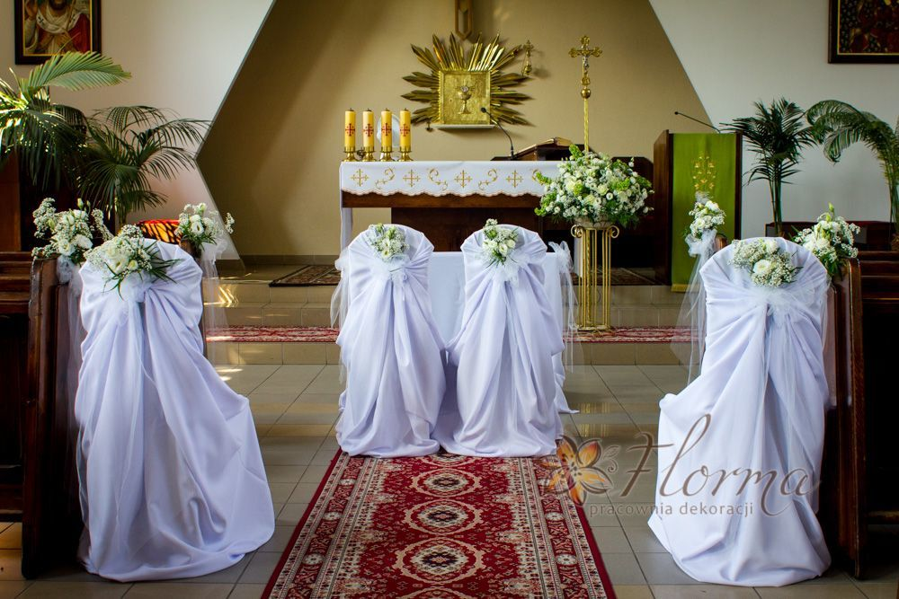 Dekoracja kościoła w Warszawie