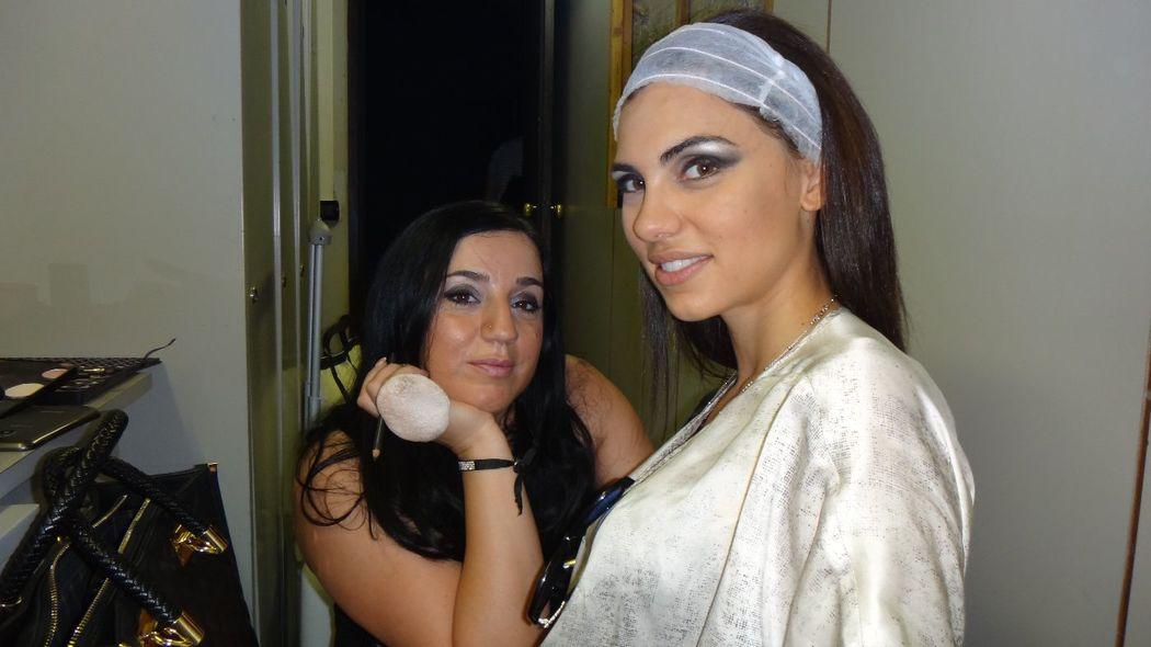 Isabella Nail & MakeUp Artist: Backstage con Luna Voce Miss Universo Italia 2014 Yamamay