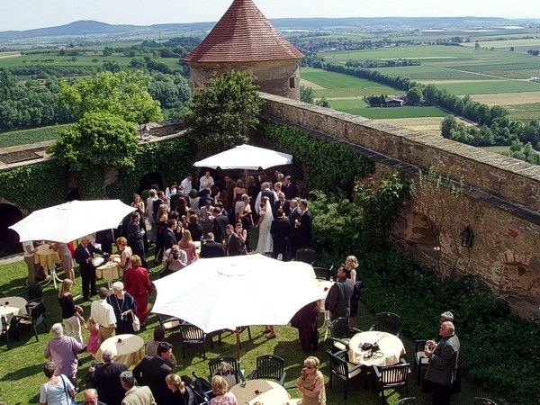 Beispiel: Hochzeitsgesellschaft, Foto: Burg Stettenfels.