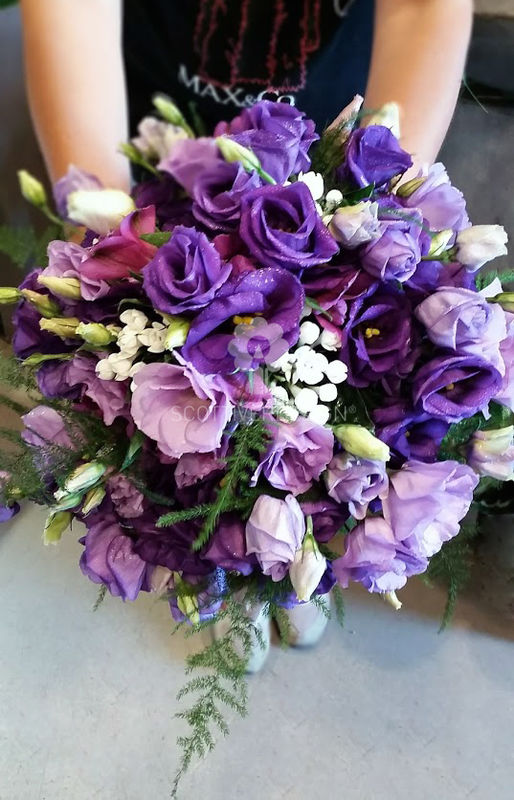 Violet Bridal Bouquet