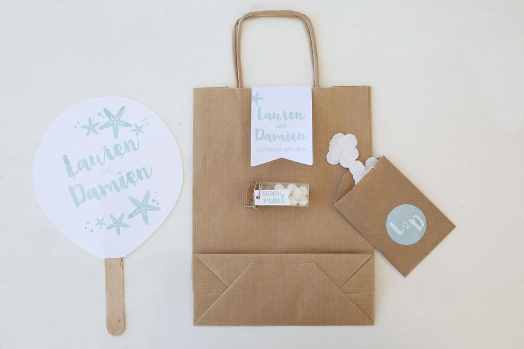 Ventaglio, wedding bag e altre piccole coccole per gli invitati