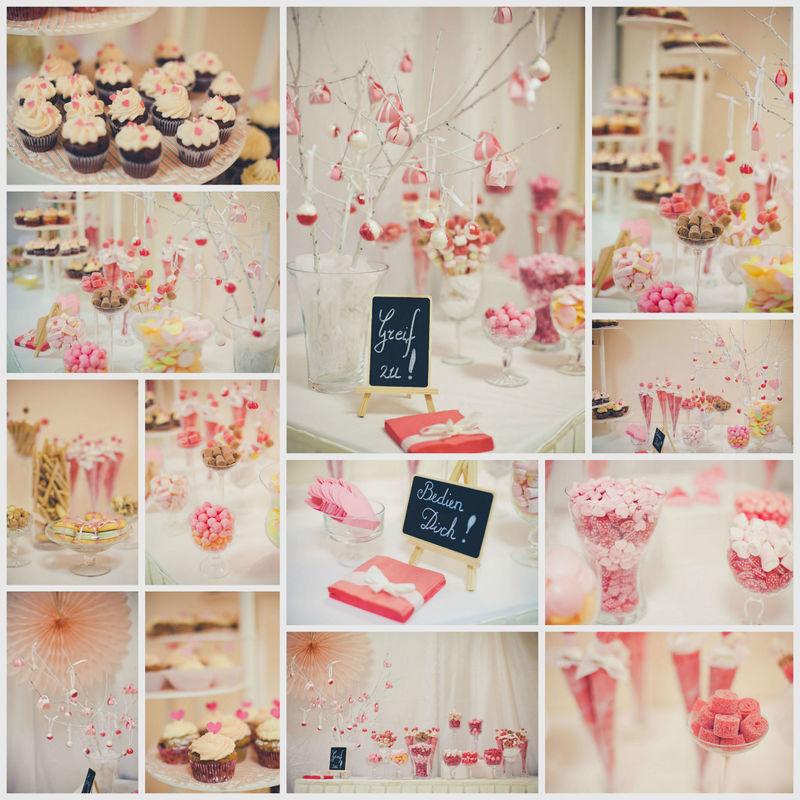 Candybar!  Eins der absoluten Highlights für die Gäste - Süßes und Gebäck angerichtet in Ihrer Dekofarbe und Ihrem Stil!