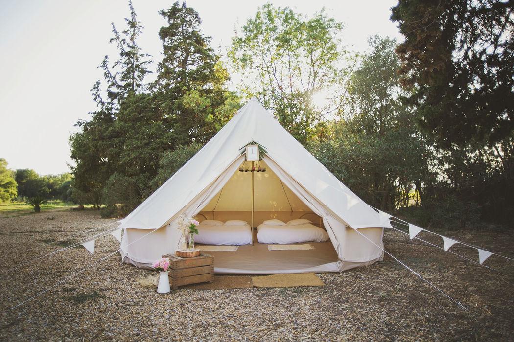 Tente Confort Invités Crédits photo : Fanny Combes - Mon Wedding Camping