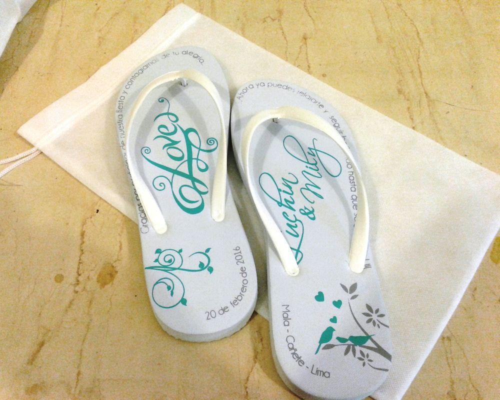 Sandalias personalizadas con bolsa