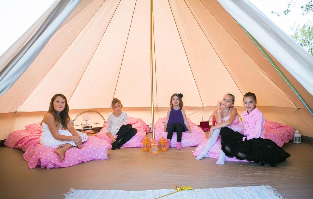 Tente Kids Crédits photo : Réjane Moyroud - Mon Wedding Camping