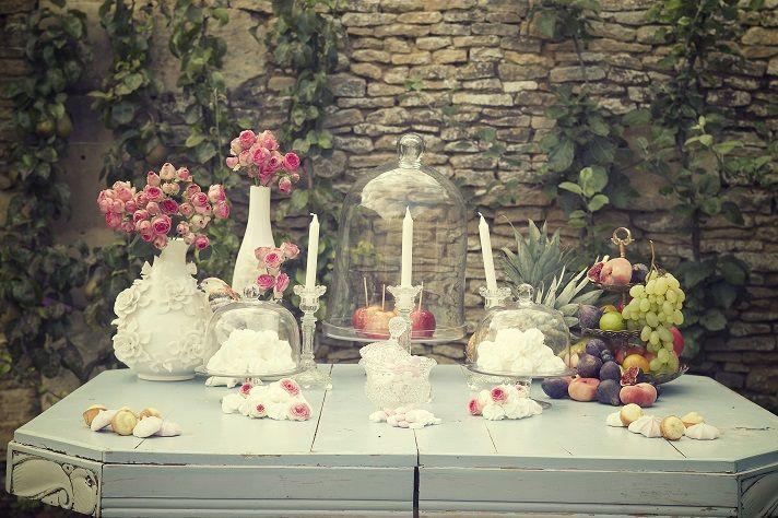 French Antique Wedding - Candy bar