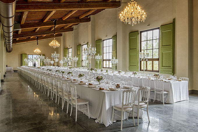 Our Banqueting Hall Limonaia up to 240 seated guests.