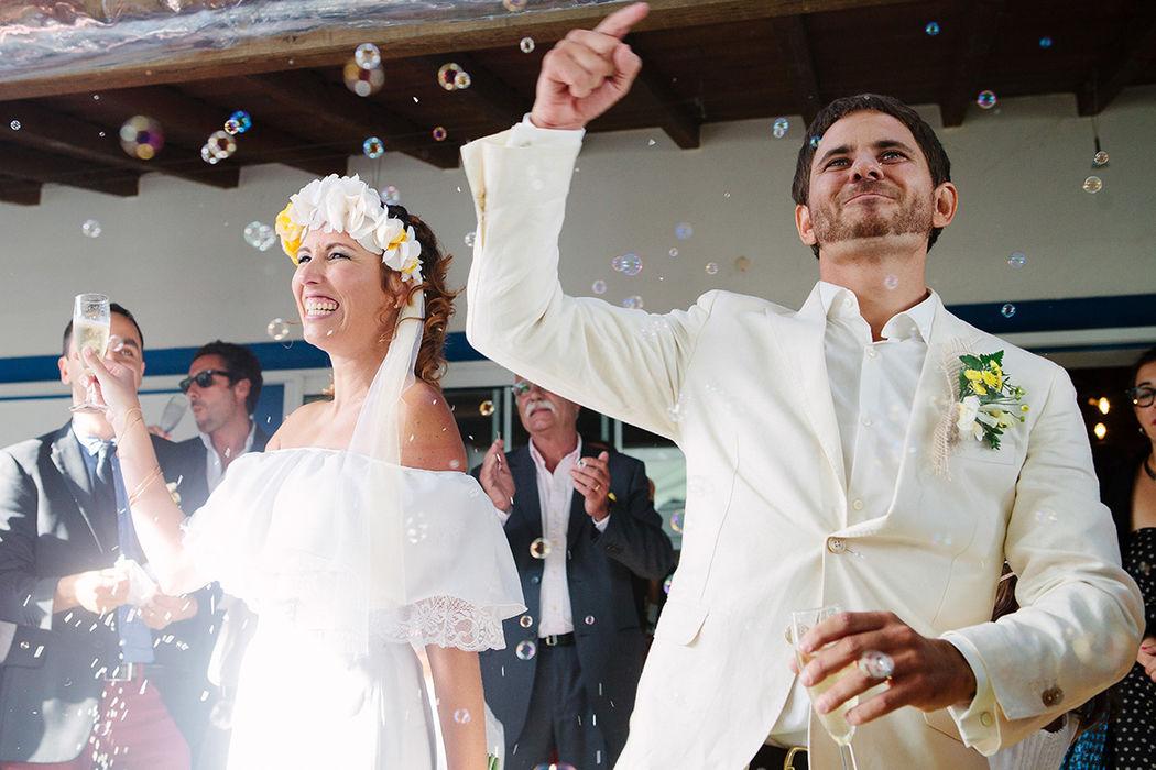 Destination Wedding da Catarina e do Zenobia  na Herdade do Monte Novo, momento depois da cerimônia com brinde.