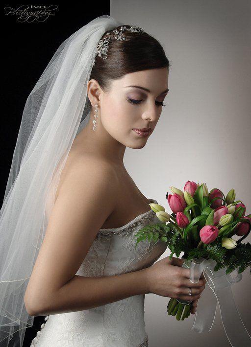 Fiorella, novia maquillada por Ingrid Ackermann