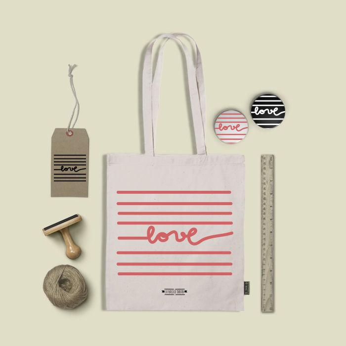 bolsas de tela para bodas/regalos de boda/tote bags www.lafabricademariana.com