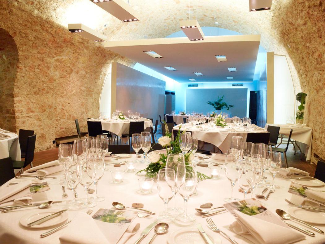 Beispiel: Hochzeitsgedeck, Foto: Hotel Basel.