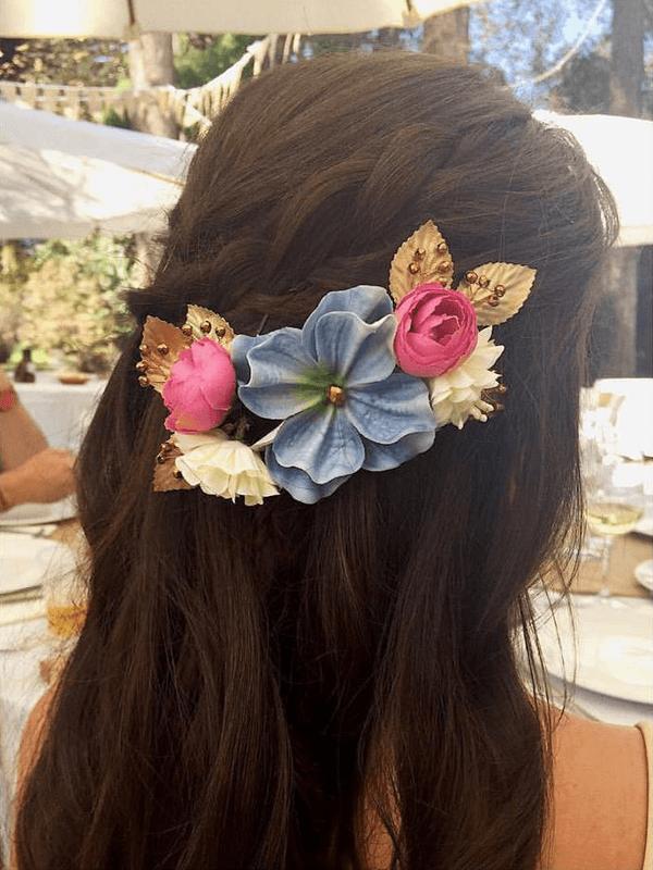 Media Corona de flores pequeña