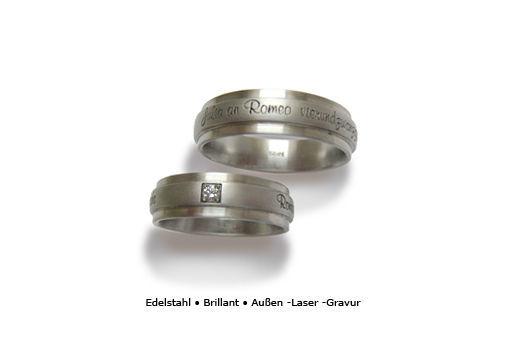 Beispiel: Edelstahlehering mit Diamant und feiner Lasergravur, Foto: Panzerknacker Goldschmiede.