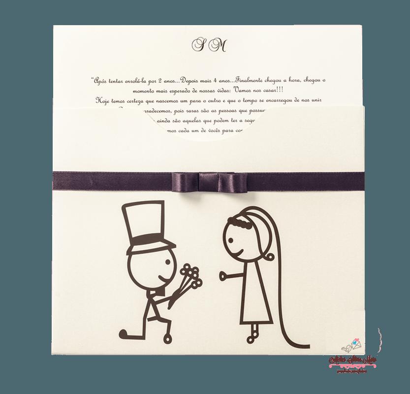 Convite  Luva - Ref. CS.0174