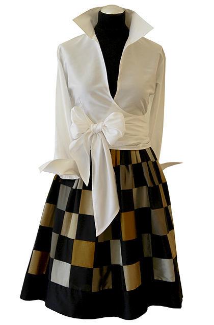 Beispiel: Abendmode für die moderne Frau, Foto: Bonney & Kleid.