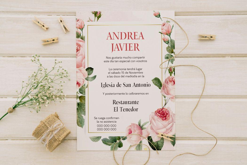 Coco bodas, invitaciones y sobres