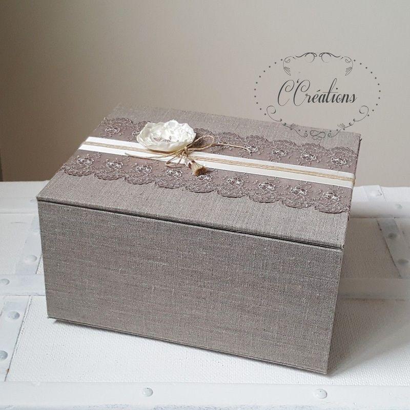 Urne, coffret pour dons invités  Bonheur  ©CCreations