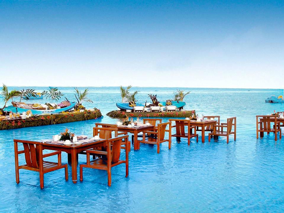 Beispiel: Dinner im Wasser, Foto: TUI.
