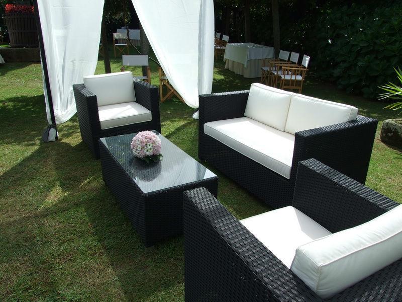 Lounge no jardim