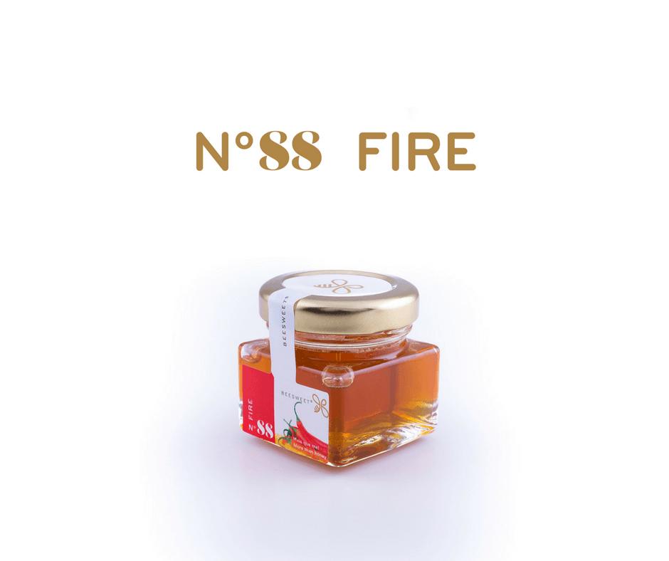 Requintado Frasco de 40gr de Mel aromatizado Beesweet - N. 88 Fire - Sabor picante