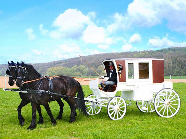 Beispiel: Ihre Märchenhochzeit wird wahr, Foto: Hochzeitskutschen Hessen.