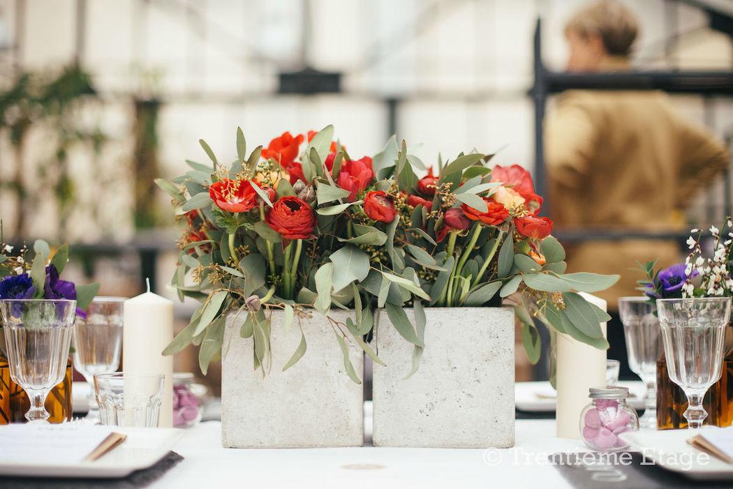 Table réalisée pour le salon Happy Day Factory  Crédit photo : Trentième Etage