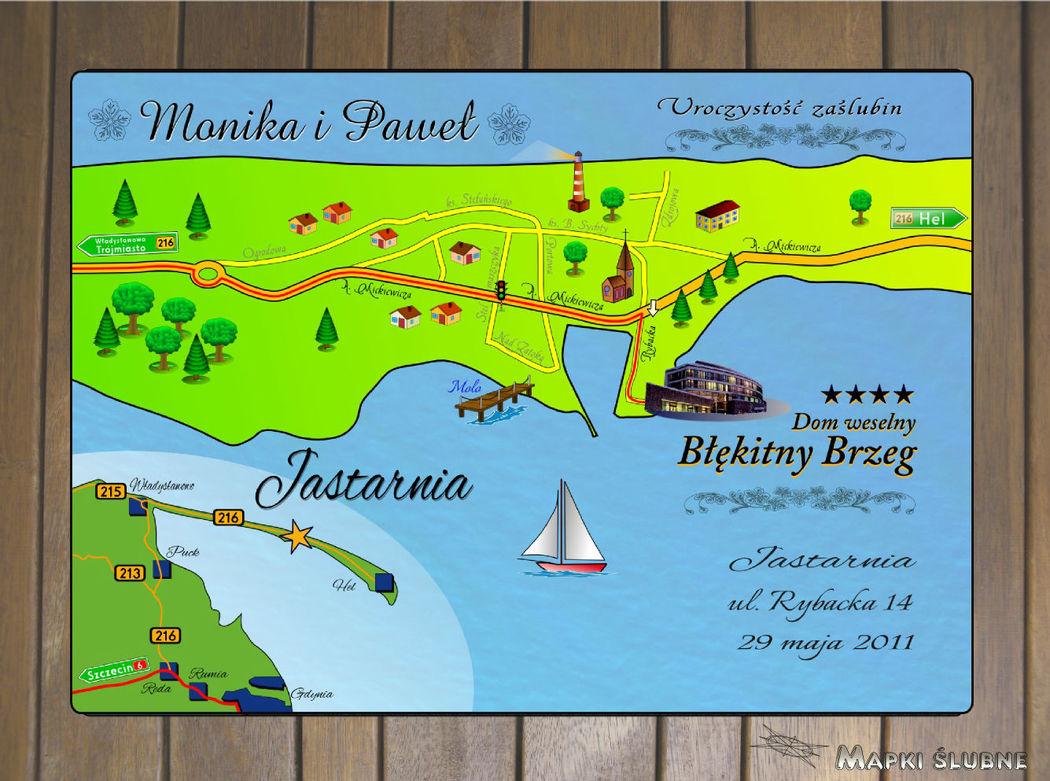 Mapka w wersji z naturalnymi kolorami.