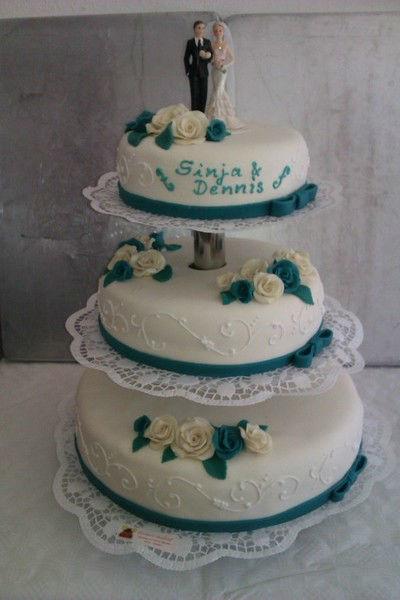 Beispiel: Hochzeitstorte, Foto: Konditorei Brinkshoff.