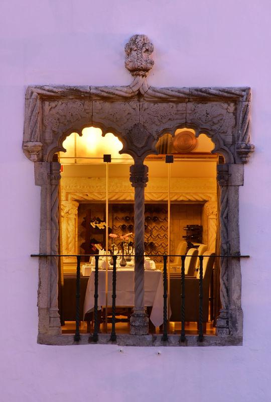 janela manuelina do Restaurante
