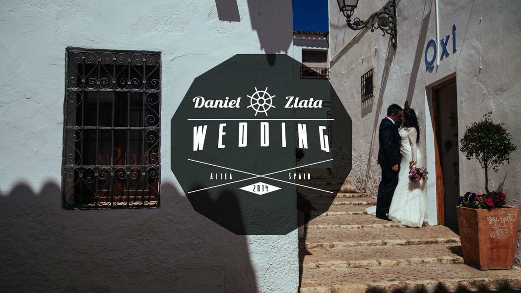 Portada del vídeo de la boda de Zlata y Daniel.