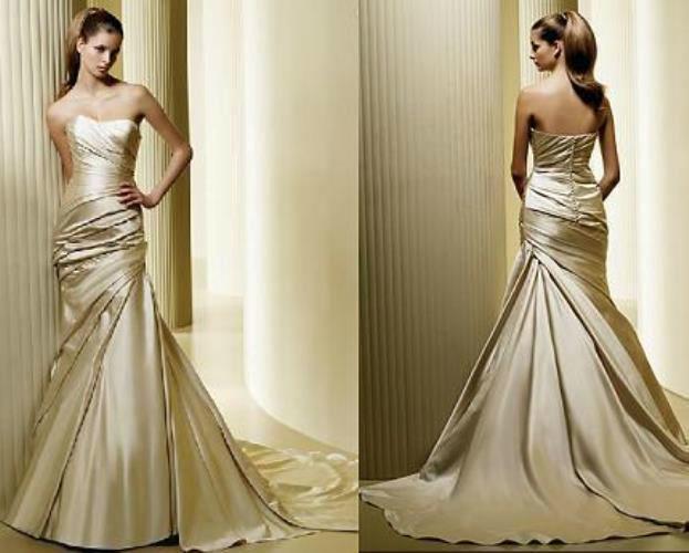 Beispiel: Elegante Hochzeitskleider, Foto: Traum Braut.