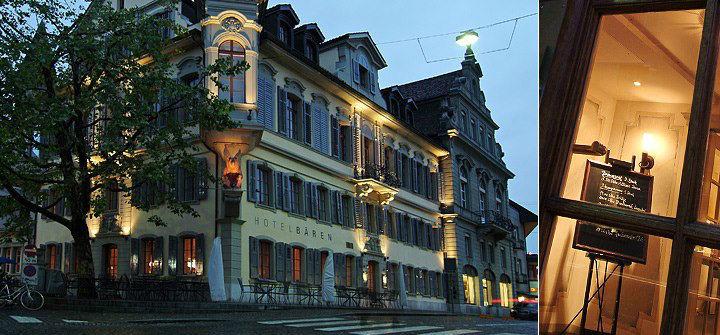 Beispiel: Das Hotel am Abend, Foto: Hotel Bären Langenthal.