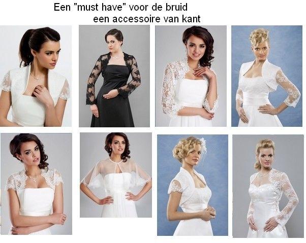 www.kristinabruidsmode.nl Bolero's  van kant