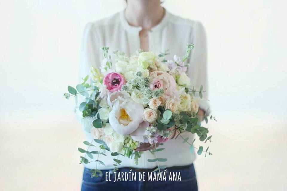 Ramo de novia por El Jardín de mamá Ana. Todos especiales y diferentes.